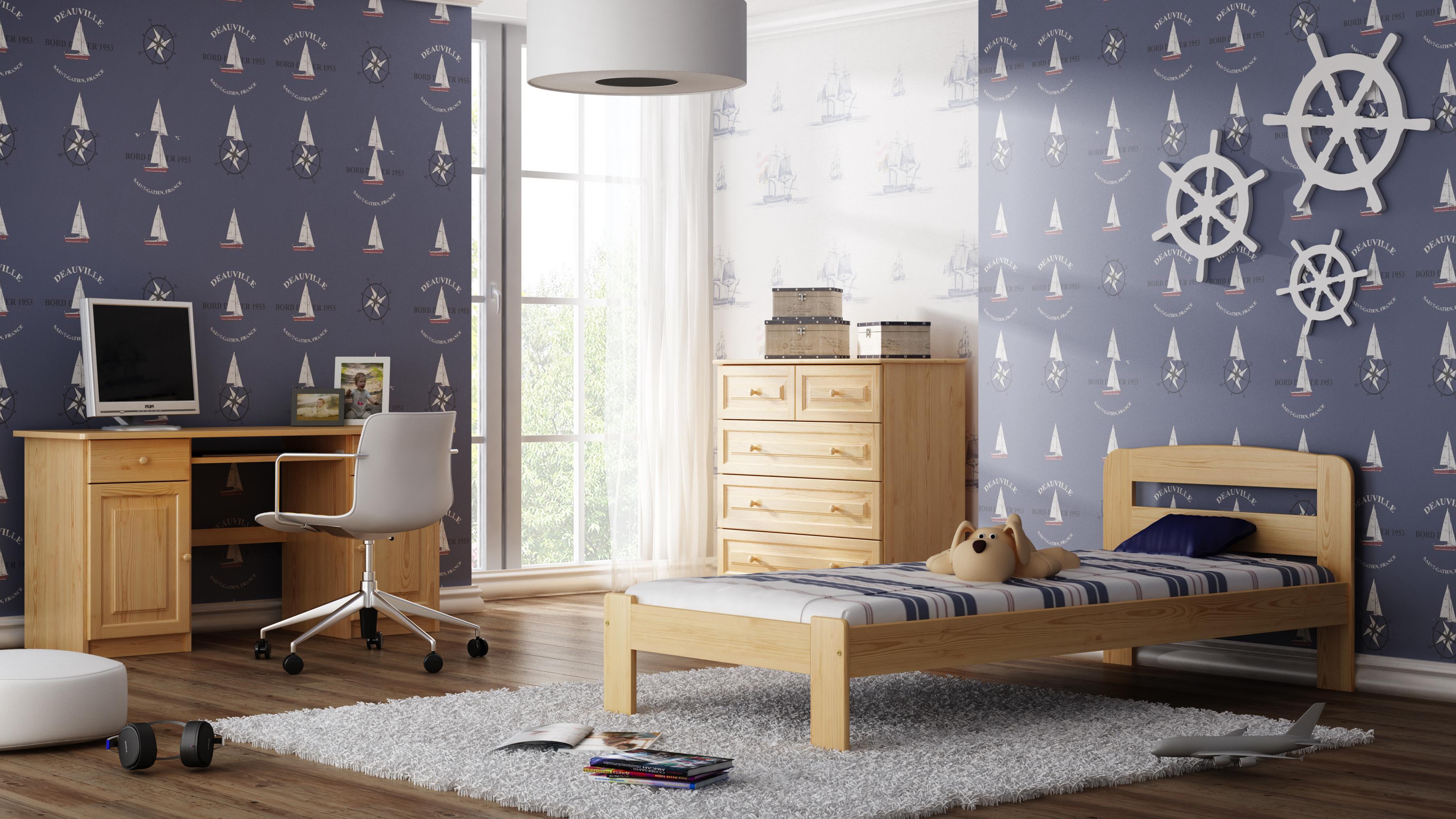 ehebett mit lattenrost jugendbett g stebett 90x200 einzelbett 140x200 doppelbett ebay. Black Bedroom Furniture Sets. Home Design Ideas