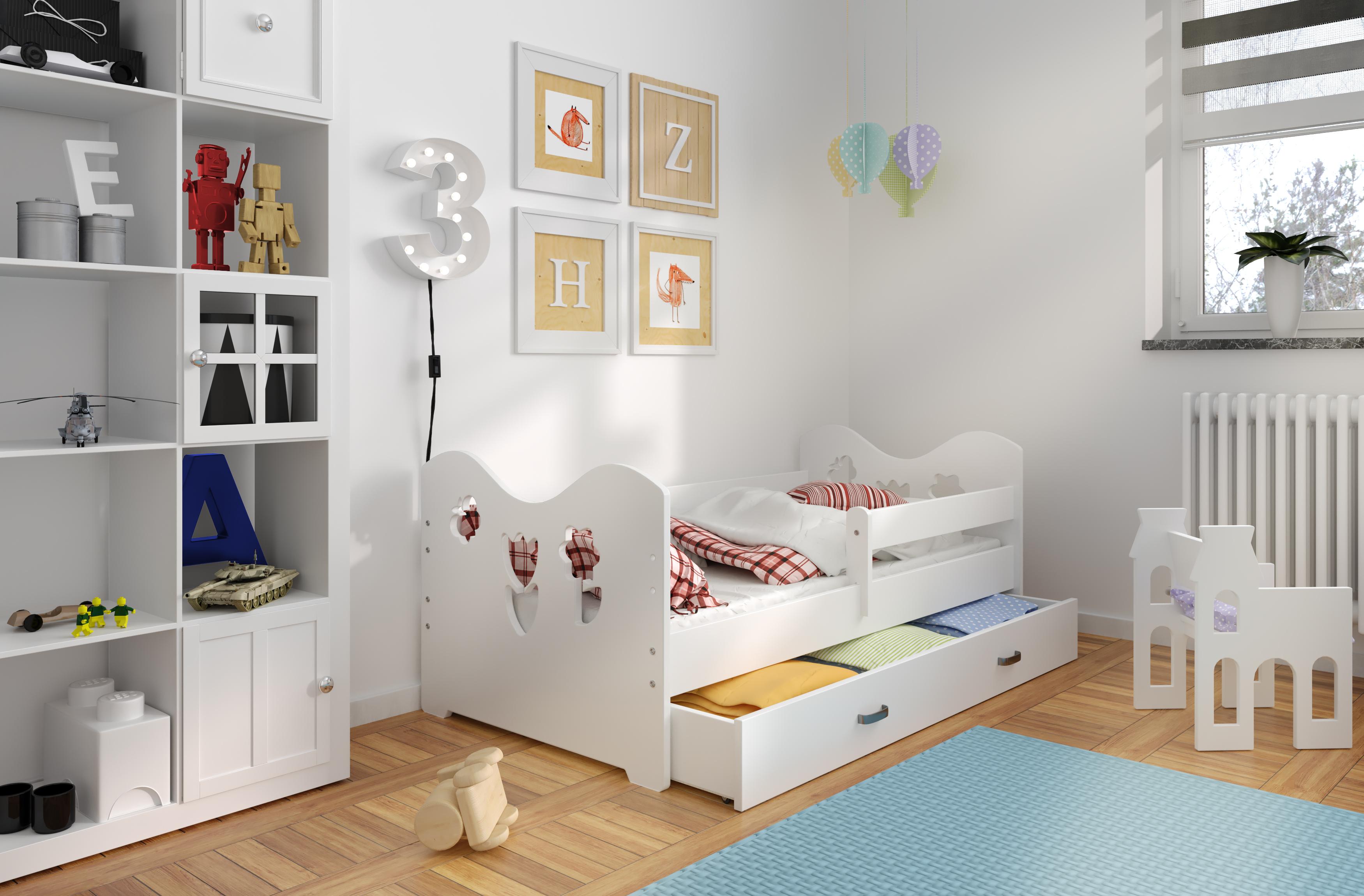 Bett Babybett Kinderbett Jugendbett 160x80 + Lattenrost + Schublade ...