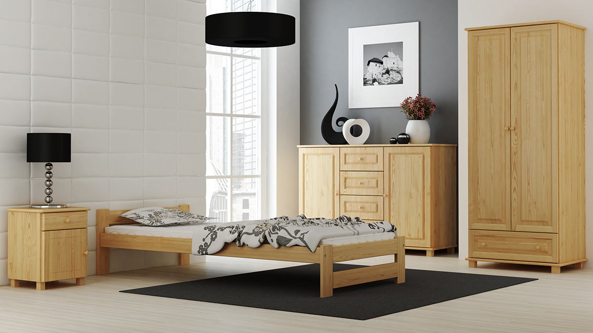 Furniture Grey Solid Pine Wood Bed Frame 3ft Single 90x190 Slatted With Foam Mattress Home Furniture Diy Rpqualitycontrol Com Br
