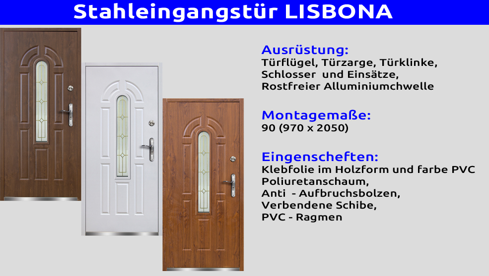 t r haust r eingangst r stahlt r 90 breite lissabon 70 mm. Black Bedroom Furniture Sets. Home Design Ideas