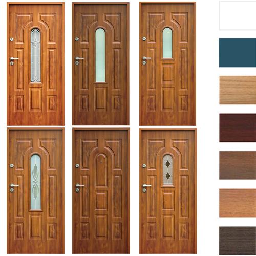 eingangst r haust r stahlt r wohnt r t r 70 80 90 100 breite 7farben 52mm opusw3 ebay. Black Bedroom Furniture Sets. Home Design Ideas