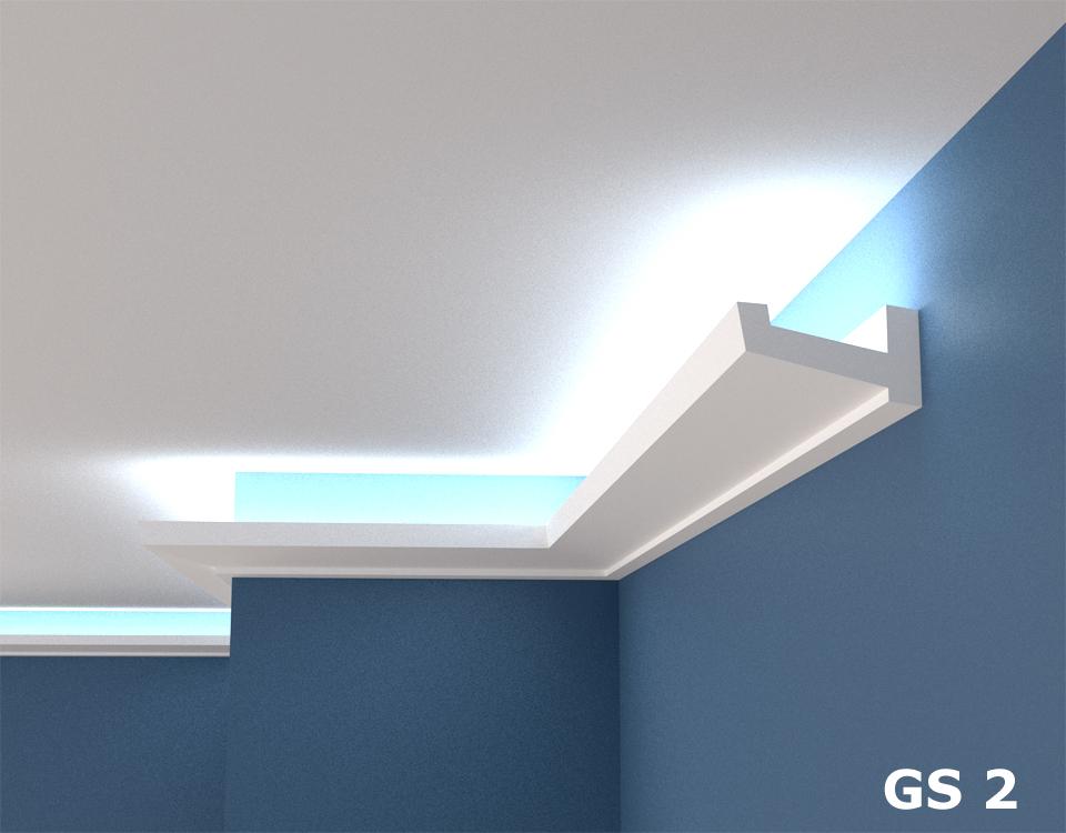 polystyrol stuckleiste lichtprofile led indirekte. Black Bedroom Furniture Sets. Home Design Ideas